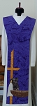 Scapular / Monostole Style Clergy Stole with Servant Design -- Available in Multiple Colors
