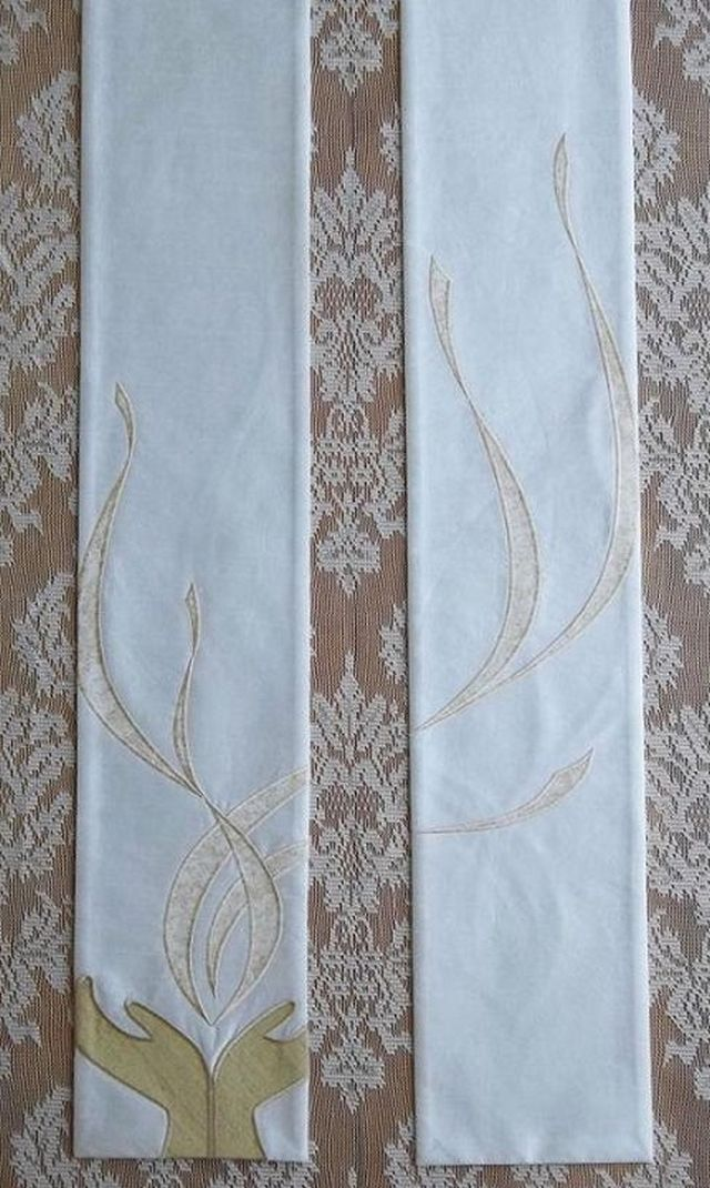 White and Off-White or Cream Clergy Stoles