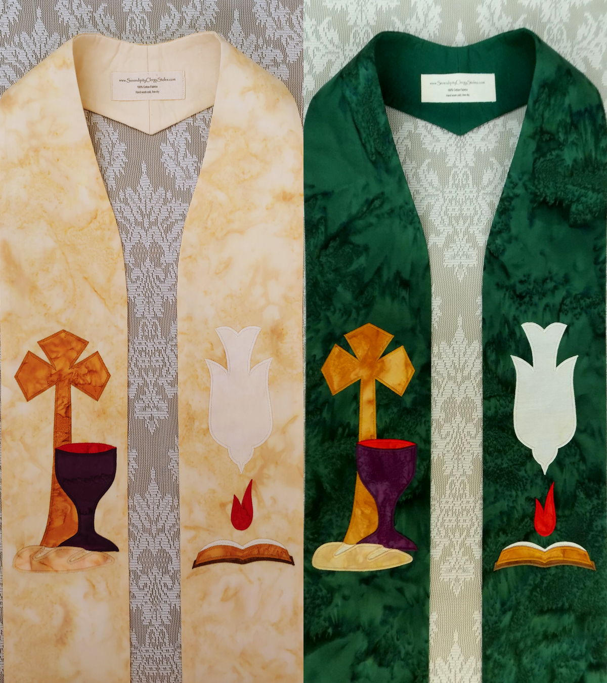 In Essentials, Unity: Clergy Stole for Ordinary Time Available in Cream or Green