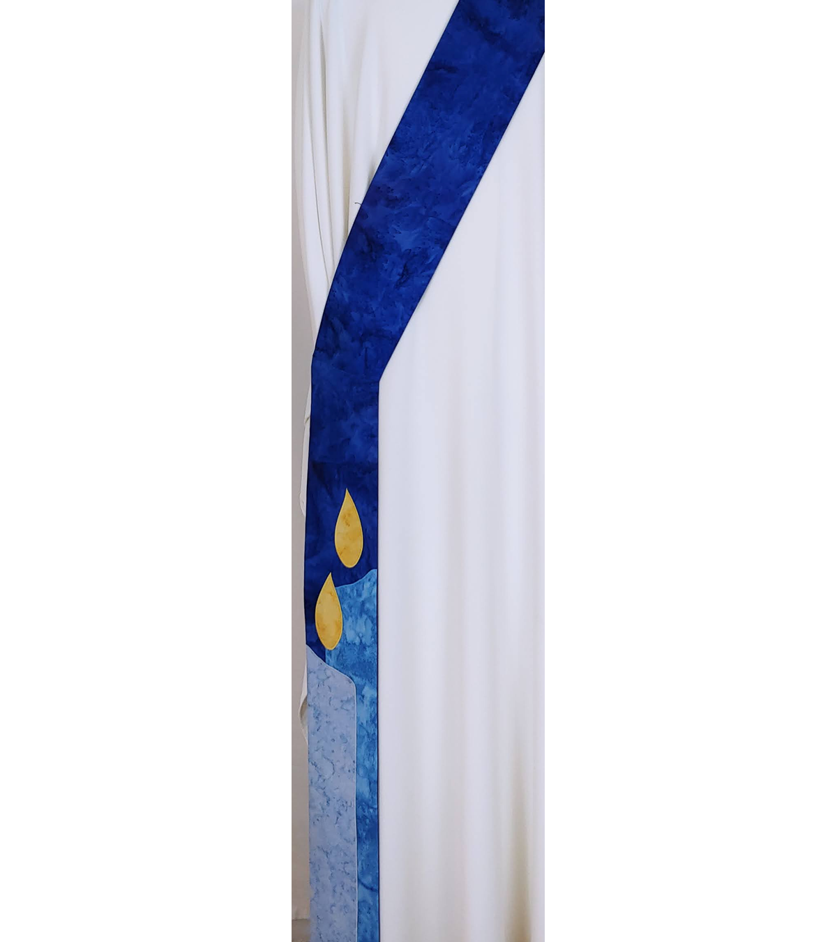 Hope, Love, Joy, Peace: Advent Candles Deacon Stole, Available in Blue or Purple