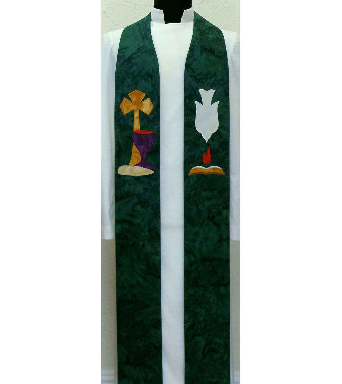 In Essentials, Unity: Green Clergy Stole for Ordinary Time