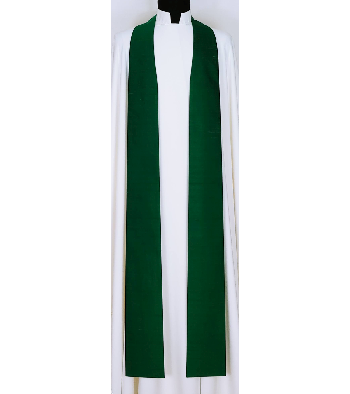 Simply Silk: Plain Green Clergy Stole -- Keep it Simple, or Add Your Own Design!