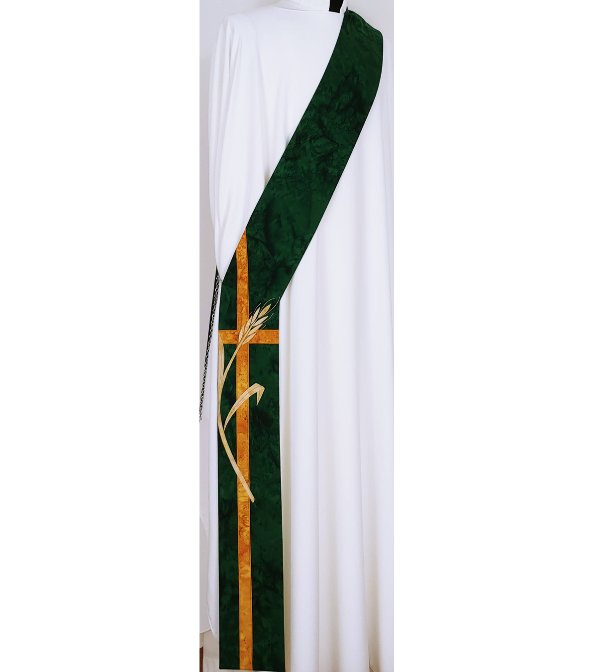 I am the Bread of Life: Green Deacon Stole for Ordinary Time