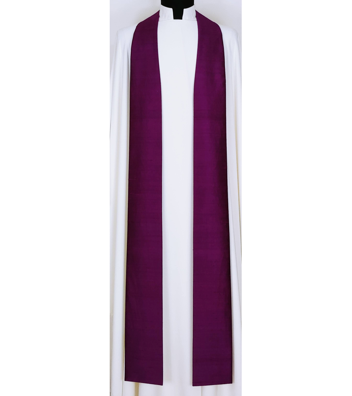 Simply Silk: Plain Purple Clergy Stole -- Keep it Simple, or Add Your Own Design!