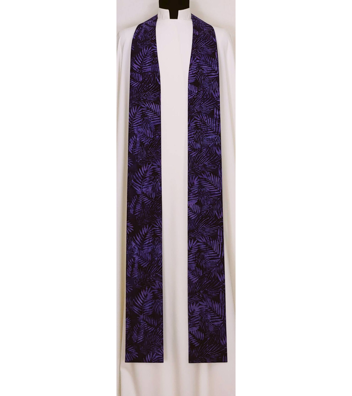 READY TO SHIP -- Hosanna! Puprple Palm Leaf Stole for Palm Sunday Lent