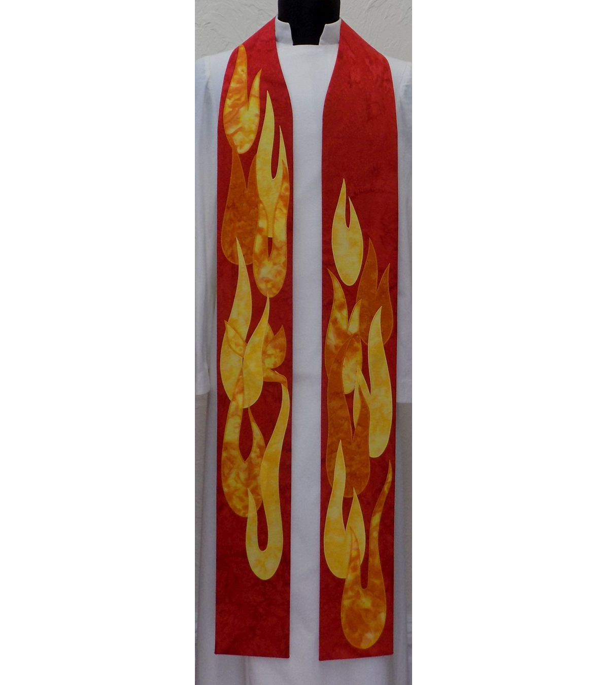 hot sale online 79bf0 2661b The Dance of the Holy Spirit: Red Clergy Stole for Pentecost and Ordinations
