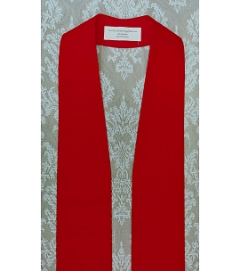 Simply Silk: Plain Red Clergy Stole -- Keep it Simple, or Add Your Own Design!