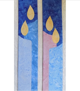 Hope, Love, Joy, Peace: Blue Advent Candles Clergy Stole