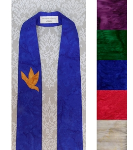 And on Earth, Peace: Clergy Stole in Any Color with Dove