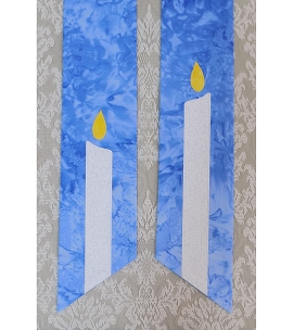 Dispel the Darkness with Advent Light: Blue Clergy Stole with Christ Candle