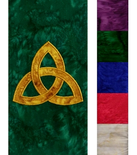 The Mystery of the Trinity: Clergy Stole with Celtic Trinity Knot Design in all Colors
