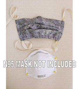 Fabric Cover for N95 Mask -- Single Tie Design, Assorted Colors