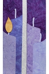 Light Their Way: A Teaching Clergy Stole for Advent,  Candles with Detachable Flames