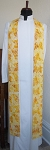 Resurrection! Easter Clergy Stole in Gold Butterfly Batik Print