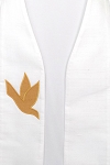 READY TO SHIP! A Lasting Peace: White Silk Clergy Stole with Gold Dove
