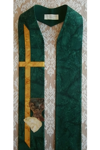 Do This in Remembrance: Green Clergy Stole for Communion