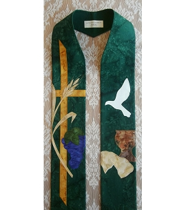 Blessings of the Lord's Supper: Communion Clergy Stole in Green