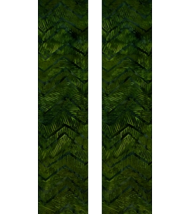 Jazzy Chevron: Dynamic Green Print Clergy Stole for Ordinary Time