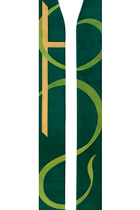 The Joy of the Lord is my Strength! Green Clergy Stole for Ordinary Time