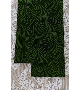 READY TO SHIP:  HOSANNA! Green Celebration Stole in Palm Leaf Print