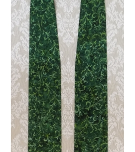 Simple Green Batik Print Clergy Stole for Ordinary Time