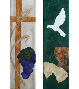 Blessings of the Lord's Supper: Communion Clergy Stole in Cream or Green