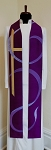 READY TO SHIP! The Joy of the Lord is my Strength! Purple Clergy Silk Stole of Praise for Advent or Lent