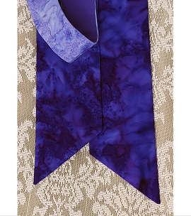 READY TO SHIP! Advent Peace: Narrow Tapered Stole in Purple Gradient Print