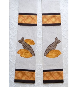 The Feast of Pastoral Ministry: Clergy Stole with Five Loaves and Two Fish