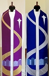 Come to Bethlehem and See! Advent stole with Bethlehem Road Design