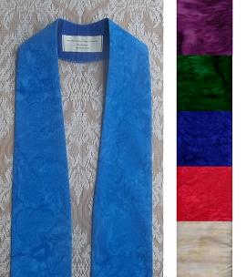 Basic Batiks: Plain Clergy Stole with no Added Design