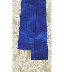 READY TO SHIP Basic Batiks: NARROW Iris Blue Stole with No Added Design