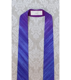 READY TO SHIP! Anticipate the Coming of the King: NARROW Advent Stole in Dramatic Stripe Print