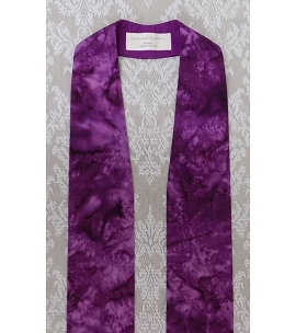 Basic Batiks: Purple Clergy Stole with no Added Design