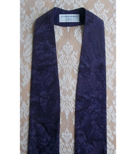 Basic Batiks: Dark Purple Clergy Stole with no Added Design