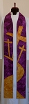 Were You There When They Crucified My Lord? -- Clergy Stole for Lent with Road to the Cross Design