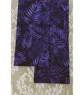 READY TO SHIP: HOSANNA! Purple Celebration Stole in Palm Leaf Print