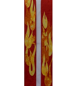 Red clergy stole for Pentecost and ordinations with