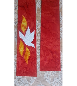 NARROW! The Gift of the Holy Spirit: Red Clergy Stole for Pentecost and Ordination
