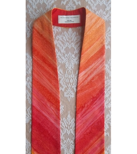 Celebrate the Movement of the Holy Spirit: Dynamic Red Print Clergy Stole