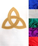 The Mystery of the Trinity: SILK Clergy Stole with Celtic Trinity Knot Design in all Colors