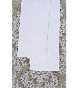 READY TO SHIP White Cotton Print Clergy Stole for Christmas, Easter, and Other Occasions