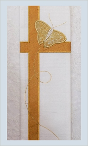 We Shall be Changed! Easter Clergy Stole with Butterfly Cross