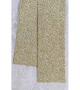 READY TO SHIP! Simple Clergy Stole in Cream and Gold Metallic Vine Print