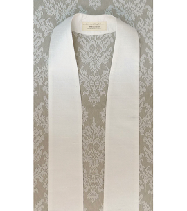 Simply Silk: Plain White Clergy Stole -- Keep it Simple, or Add Your Own Design!