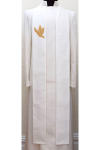A Lasting Peace: SILK Clergy Stole with Dove in all Colors