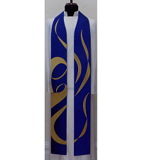 My Soul Glorifies the Lord: Advent Clergy Stole with Madonna and Child Design