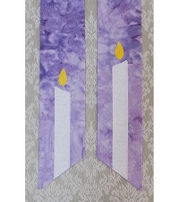 Dispel the Darkness with Advent Light: Purple Clergy Stole with Christ Candle